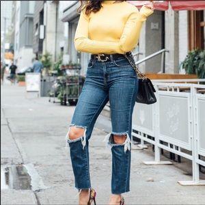 L'agence Audrina High Rise Straight Leg Jean